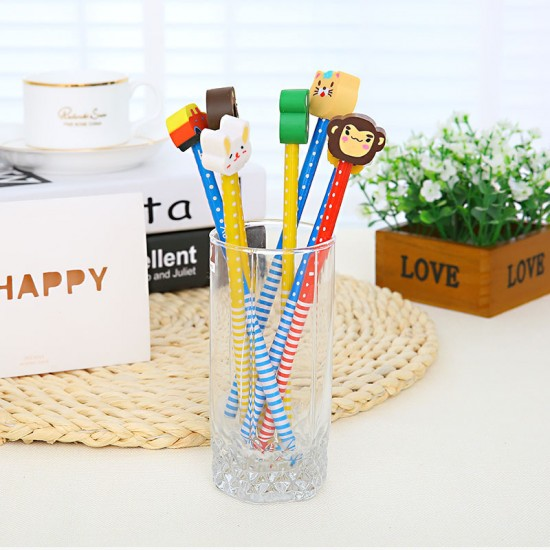 動物造型橡皮擦鉛筆 創意學生獎品