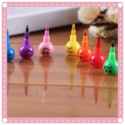 7色表情彩虹筆 兒童塗鴉著色筆