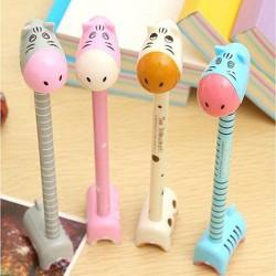 可愛動物可站立圓珠筆 創意原子筆