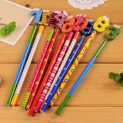 (10入)0-9數字造型木製鉛筆 可愛學生文具獎品