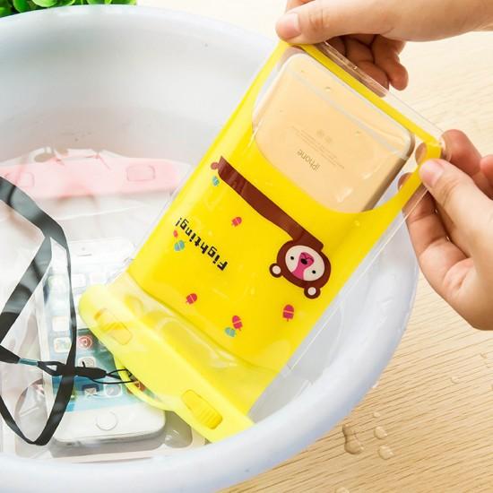 可愛動物手機防水袋 漂流潛水手機袋 可愛卡通防水手機套