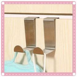 不銹鋼門後多功能掛鉤 兩用衣物門背式掛鉤 2入裝