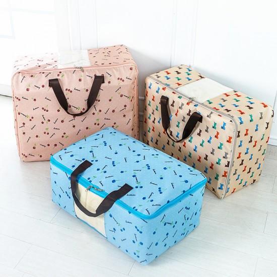 牛津布防水棉被收納袋 加厚印花衣物整理袋 衣服收納箱
