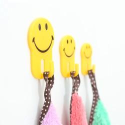 可愛笑臉掛鉤 強力無痕黏貼掛勾 塑膠掛鉤 3入裝