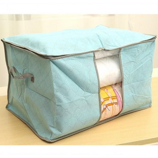 彩色竹炭環保棉被收納袋 衣物收納套