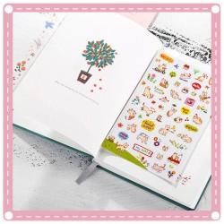 可愛貓咪 DIY卡通透明裝飾貼紙 日記 筆記本 相冊 手機裝飾貼紙 6張入