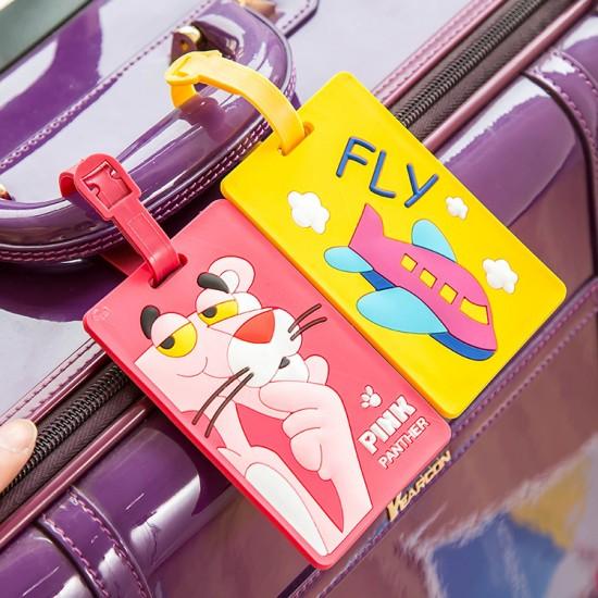 可愛矽膠行李箱吊牌 托運牌 創意掛牌 行李吊牌