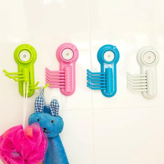 強力吸盤六爪掛鉤 真空吸壁式置物掛勾  廚房浴室收納架