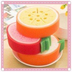 水果款加厚海綿 海綿菜瓜布 洗碗清潔布 強力去汙洗碗海綿菜瓜布