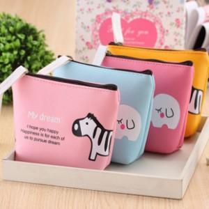 韓版創意可愛糖果色動物零錢包 便攜手拿包
