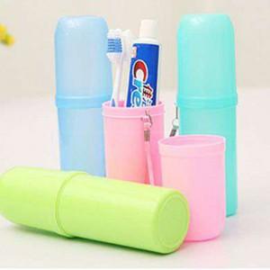 附掛繩牙刷收納杯 牙膏毛巾收納杯 旅行必備