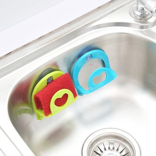 吸盤式菜瓜布收納架 多功能塑膠牆壁水槽雜物掛鉤收納架