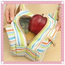 彩色條紋加厚便當袋 保溫袋 保冰袋