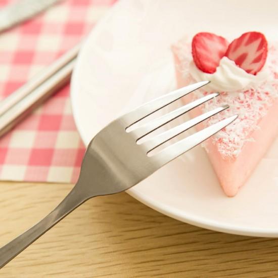 糖果色時尚環保餐具組 不銹鋼筷+湯匙+叉 戶外隨身餐具 三件組