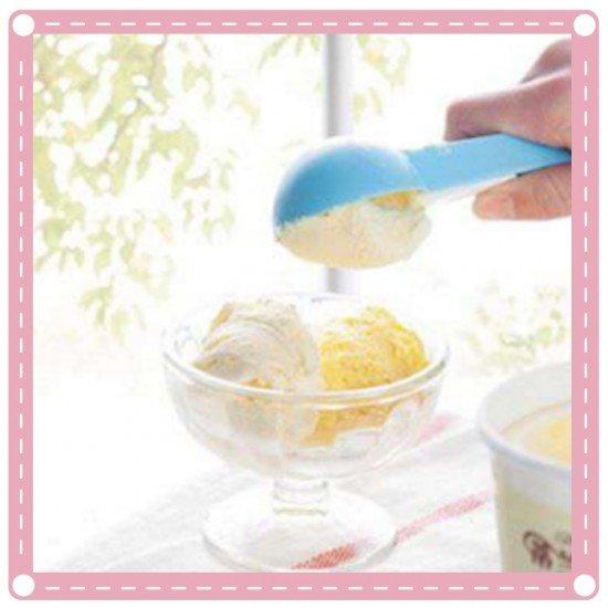 可彈式冰淇淋挖勺 塑膠水果挖球勺 圓形果肉挖勺