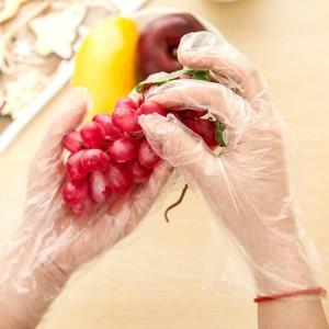 一次性PE透明塑膠手套 廚房 打掃用透明塑膠手套批發 48入裝