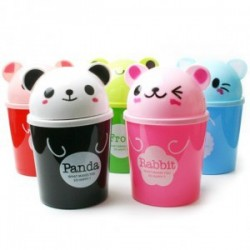 可愛動物雜物桶 卡通桌面收納桶 桌面垃圾桶 可愛實用