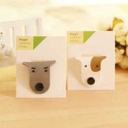 可愛狗狗造型集線器 耳線整理收納 繞線器