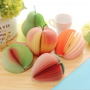 創意水果造型便條紙 DIY便條 梨子 蘋果 西瓜 草莓 桃子