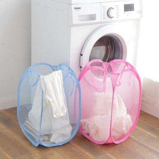 網格折疊收納籃 髒衣籃 可擕式收納籃 居家日用