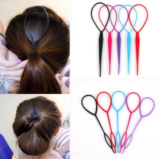編髮棒髮飾盤髮器創意編髮工具穿髮棒2件組
