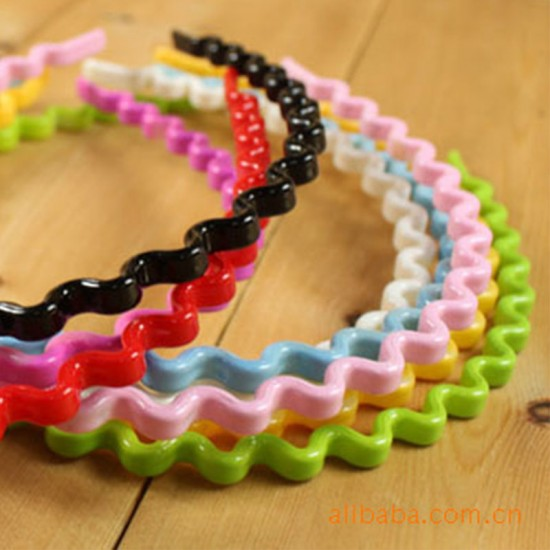 糖果色小波浪髮箍 造型髮箍