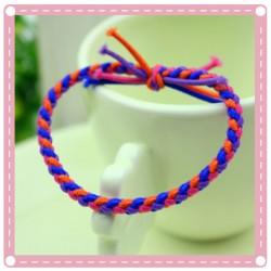 (10入)彩色麻花手工編織髮圈 流行髮飾 髮束 手環