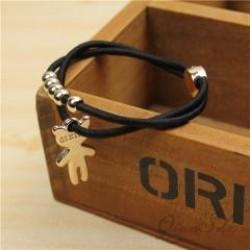 (10入)可愛造型吊墜髮束 小熊 蝴蝶 愛心 星星 髮圈 甜美裝飾手鍊 髮飾橡皮筋