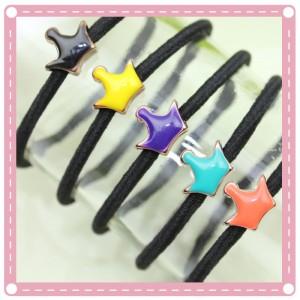 (10入)流行彩色油滴髮圈 手鍊 綁馬尾必備 創意髮圈