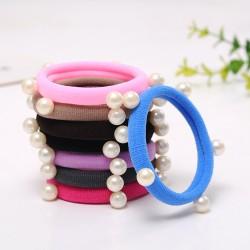 (5入)彩色造型裝飾髮圈 鉚釘 星星 珍珠 髮束 髮飾