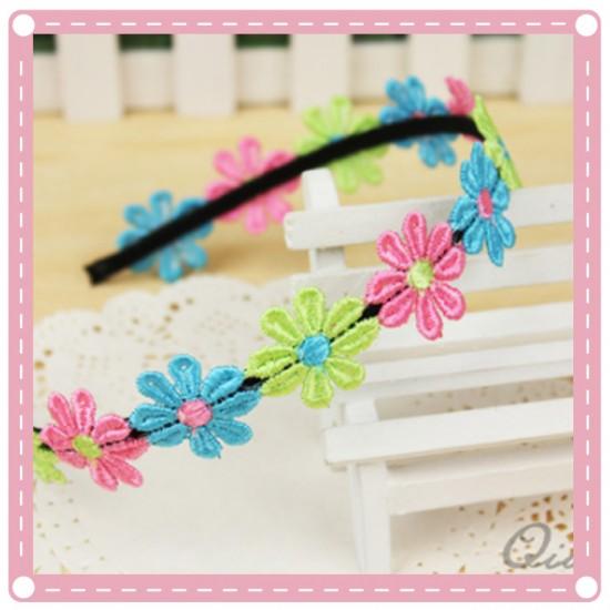 彩色花朵裝飾髮箍 花環髮圈 甜美髮飾飾品 婚禮花童必備小物
