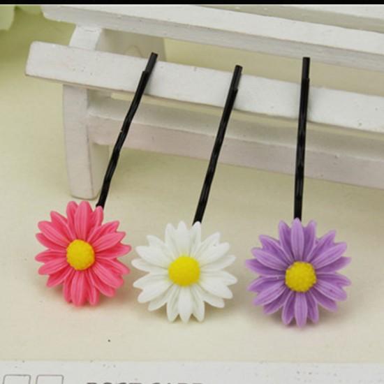 (10入)甜美小雛菊造型一字夾 髮夾