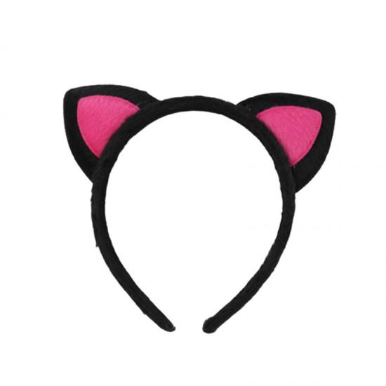毛絨貓耳髮箍 造型髮圈 化裝舞會髮飾