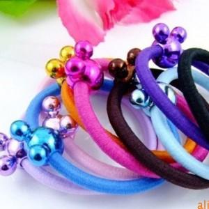 (10入)可愛米奇造型彩色髮圈 流行髮束 綁馬尾必備
