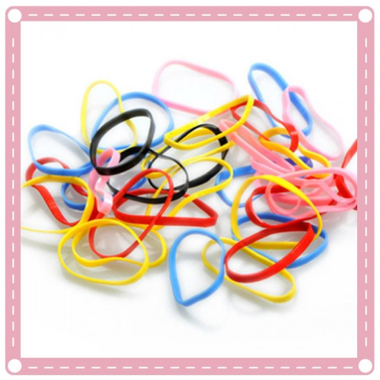 (4包入)兒童彩色橡皮筋 髮圈 彩色小髮圈 髮飾