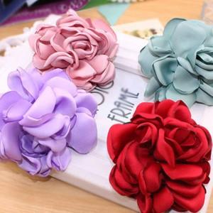 氣質花朵造型髮束 盤髮髮圈 質感橡皮筋 髮飾