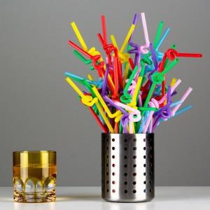 彩色一次性單彎頭藝術吸管 透明 黑色 紅色 塑膠吸管
