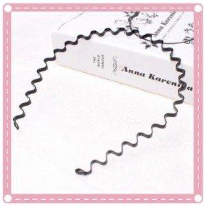 黑色鐵質波浪型髮箍 傳統髮箍