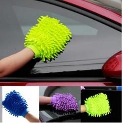 超細纖維雪尼爾擦車手套 單面除塵洗車手套