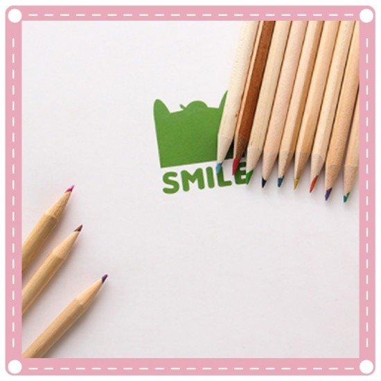 可愛mini小熊12色繪畫鉛筆 彩色鉛筆