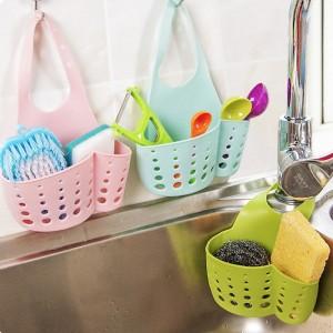 可掛式瀝水籃 廚房衛浴 按扣式瀝水袋 水槽 流理台收納袋 廚房垃圾袋 流理台清潔 廚房小物