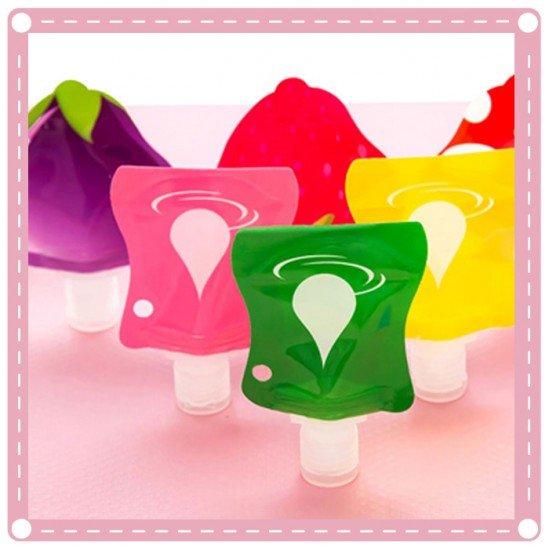水果 水滴 系列 乳液分裝瓶 塑膠按壓瓶 分裝袋 旅行專用