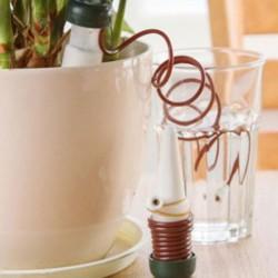 方便創意自動澆花器 澆水器 滲水器 滴灌器 施肥器 陶瓷細孔滴頭 園藝盆栽 2入裝