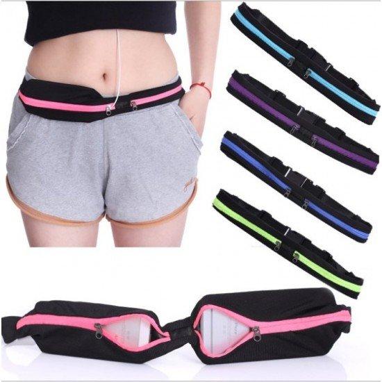 慢跑 雙腰包 彈性 運動腰包 手機 腰帶 男女跑步必備 防水 防盜包 隱形 魔術腰包