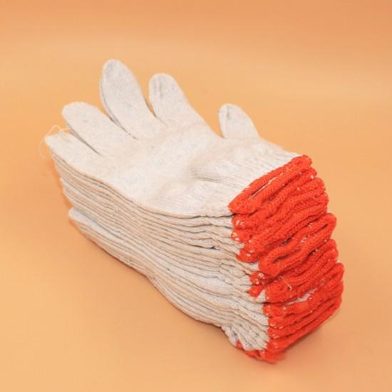 (12雙入)紗線工作手套 棉紗耐磨白手套