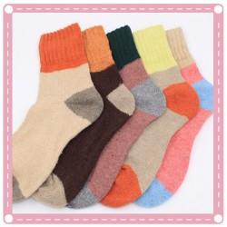 撞色加厚保暖襪 冬季必備保暖襪