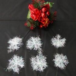 6cm雪花片 聖誕裝飾品 聖誕雪花片 6片裝
