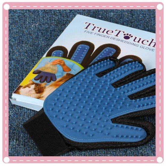 網路熱銷 true touch 輕鬆去除毛髮寵物手套 狗狗按摩工具 右手手套 寵物潔毛安撫兩用手套