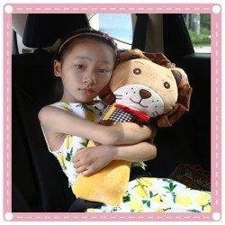 韓國兒童汽車安全帶抱枕 保護套 側邊枕頭 側枕 布偶 玩偶保護枕 安撫偶 靠枕 安全帶枕頭 娃娃