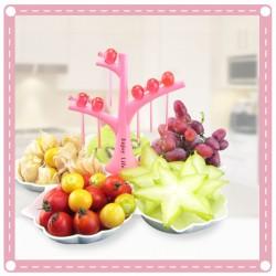 布穀鳥造型水果盤 貝殼造型水果盤 創意禮品 可拆洗糖果盤